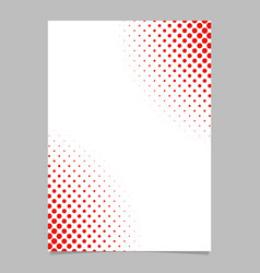 halftone dot pattern flyer template - brochure vector image