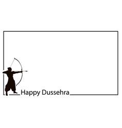 Happy dussehra background concept vector