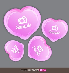 Heart pink with icons vector image