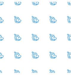 Hippopotamus icon pattern seamless white vector