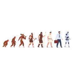 human evolution from monkey to businessman vector image