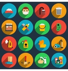 Hygiene and sanitation flat icons set vector image
