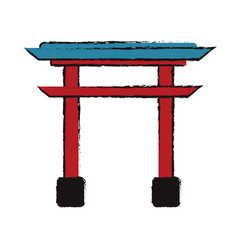 Japanese gate structure traditional vector