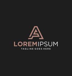 letter a s logo design inspiration vector image