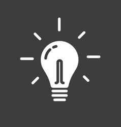 lightbulb icon line outline art light bulb vector image
