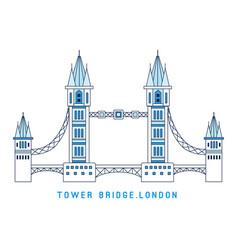 line art tower bridge england symbol london vector image