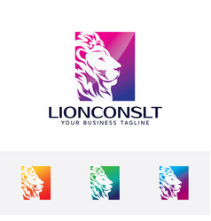 lion consulting logo vector image