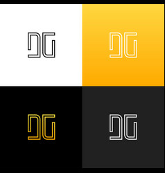 logo dg linear logo of the letter d and g vector image