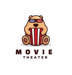 logo movie simple mascot style vector image