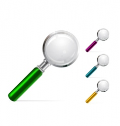 magnifier illustration vector image