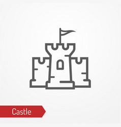 Medieval castle silhouette icon vector