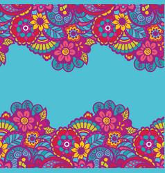 Mehndi horizontal background vector