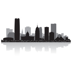 Oklahoma city usa skyline silhouette vector