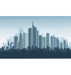 Panorama of modern city vector