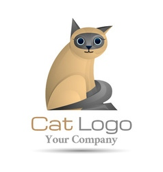 Pets cat Colorful 3d Volume Logo Design Corporate vector image