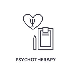 psychotherapy thin line icon sign symbol vector image