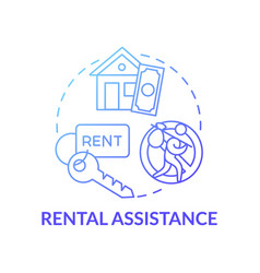 Rental assistance concept icon vector