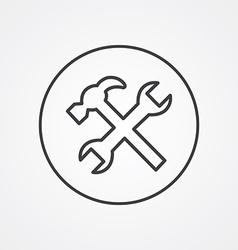 Repair outline symbol dark on white background vector