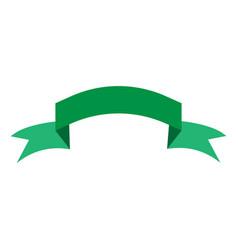 ribbon green sign 204 vector image