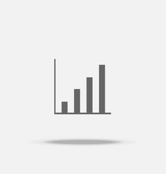 rise up bar graph flat design icon with shadow vector image