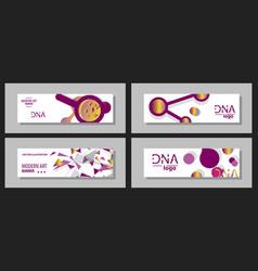 Scientific brochure design template flyer layout vector