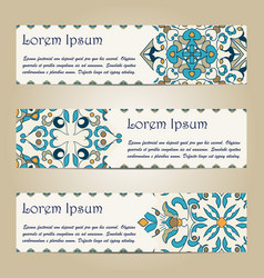 Set of colorful horizontal banners vector