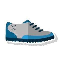 Shoe of golf sport design vector