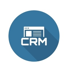 Shop CRM System Icon Flat Design vector