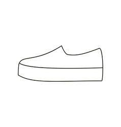 Slipon shoe vector