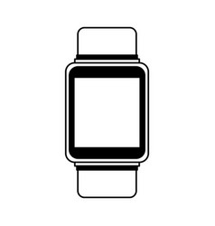 smartwatch gadget isolated icon vector image