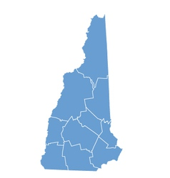 State map of new hampshire by counties vector