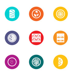 subsistence icons set flat style vector image