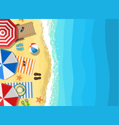 summer beach vacation sunbed vector image