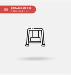 swing simple icon symbol vector image