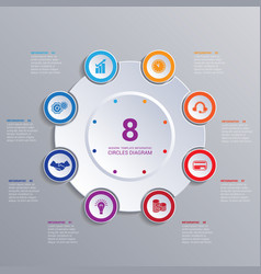 template modern infographic for 8 options vector image