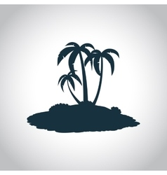 Tropical island black icon vector image