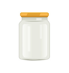 Twist cap glass jar for veggie and fruit conserve vector