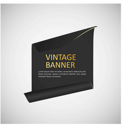 vintage banner design with typography vector image