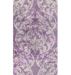 vintage damask baroque pattern beautiful vector image