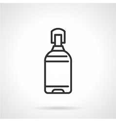 Water bottle black line icon vector image