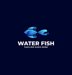 water fish template vector image