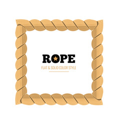 yellow rope woven border with rope knots vector image