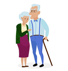 happy grandparents together isolated grandparents vector image
