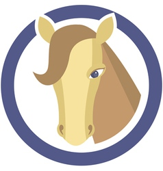 Horses head in circle vector image vector image