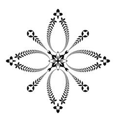 Laurel wreath tattoo icon Cross sign Black vector image vector image