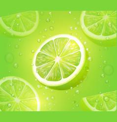 lime juice green background citrus drink vector image