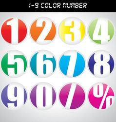 Number icon with many color vector image