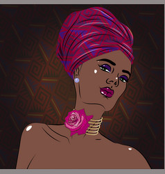 african american black beauty woman portrait vector image vector image