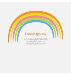 Cute cartoon rainbow Flat design style vector image vector image