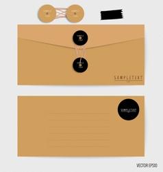 Envelopes set Blank mockups vector image